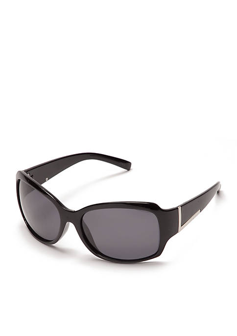 New Directions® Plastic Rectangle Polarized Sunglasses