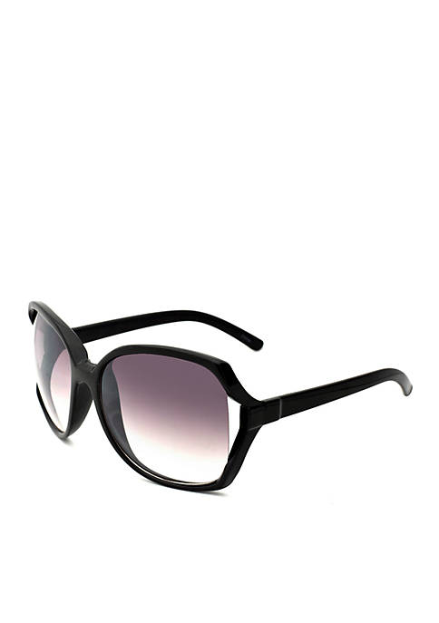 New Directions® Black Vented Lens Sunglasses