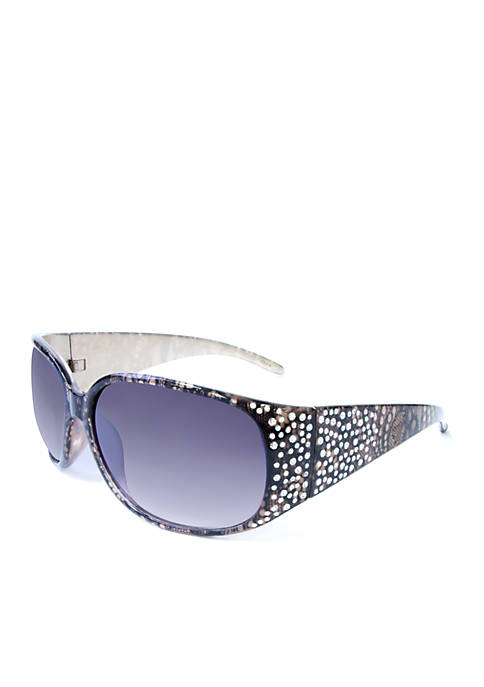 New Directions® Black Oval Sunglasses