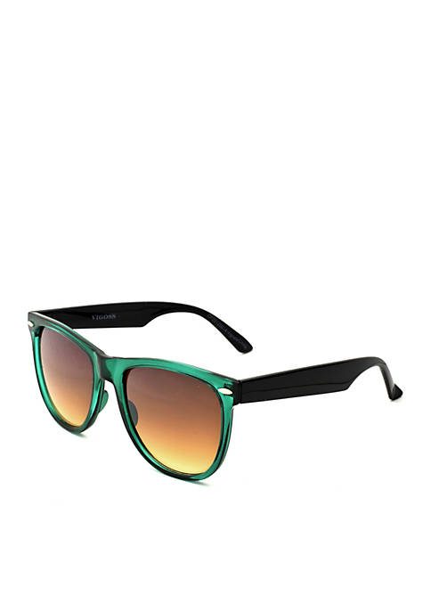 Crown & Ivy™ Square Turquoise Sunglasses