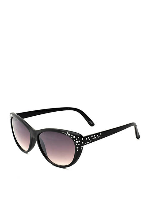 New Directions® Black Cat Eye Sunglasses