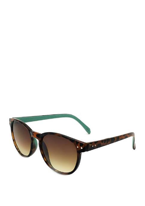 New Directions® Round Tortoise Sunglasses