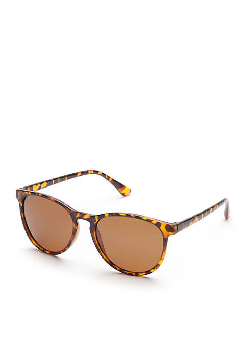 Round Tortoise Polarized Sunglasses