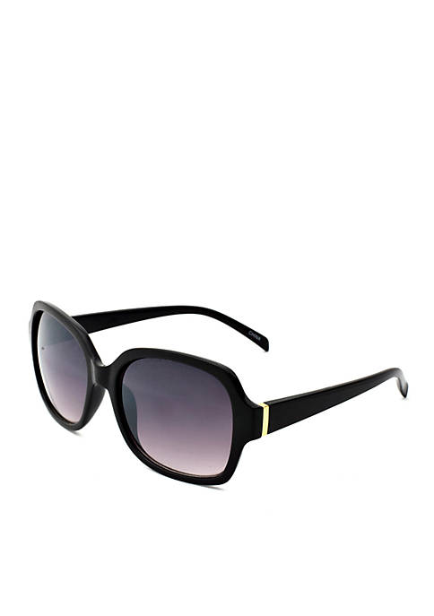New Directions® Black Square Sunglasses