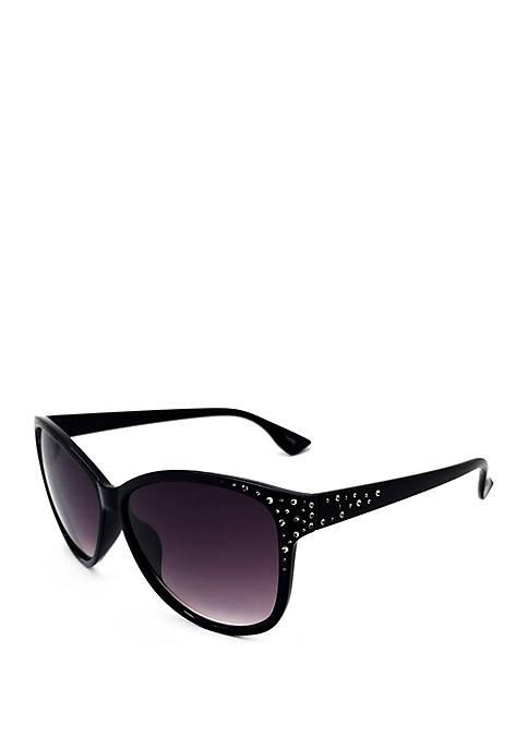 Black Opaque Smoke Sunglasses