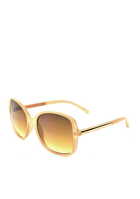 New Directions® Bone Square Sunglasses
