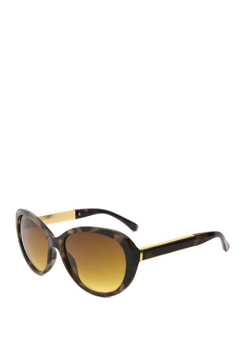 New Directions® Cat Eye Tortoise Milky Sunglasses