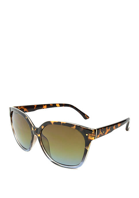Tortoise Blue 2 Tone Sunglasses