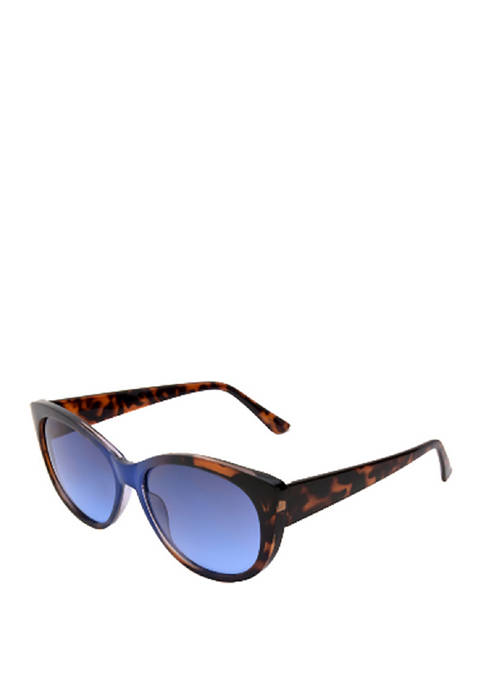 New Directions® Cat Eye Two Tone Tortoise Sunglasses