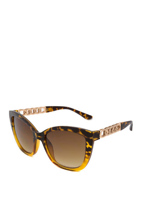 New Directions® Cat Eye Tortoise Two Tone Sunglasses