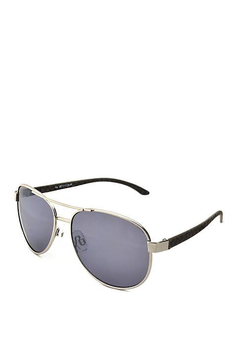 New Directions® Silver Tone Gray Sunglasses