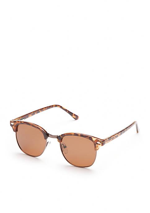 New Directions® Half-Rim Tokyo Polarized Sunglasses
