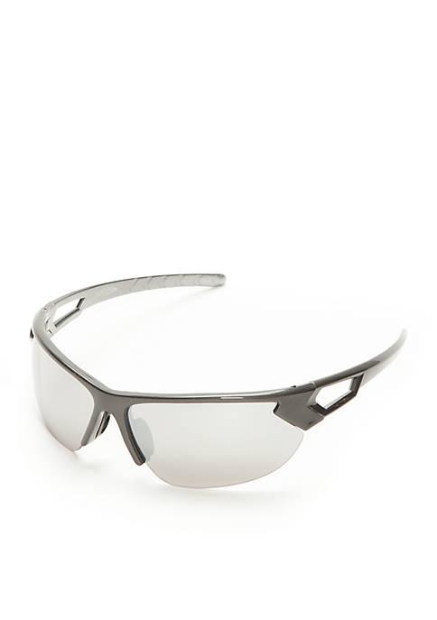 Athlix® Semi Rimless Wrap Open Temple Sunglasses
