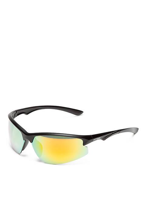 Athlix® Semi Rimless Wrap With Cut Lens Sunglasses