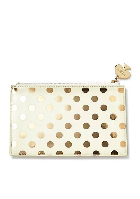 kate spade new york® Gold Dots Pencil Pouch
