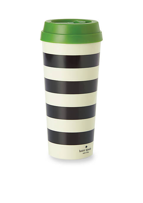 kate spade new york® Black Stripe Thermal Mug