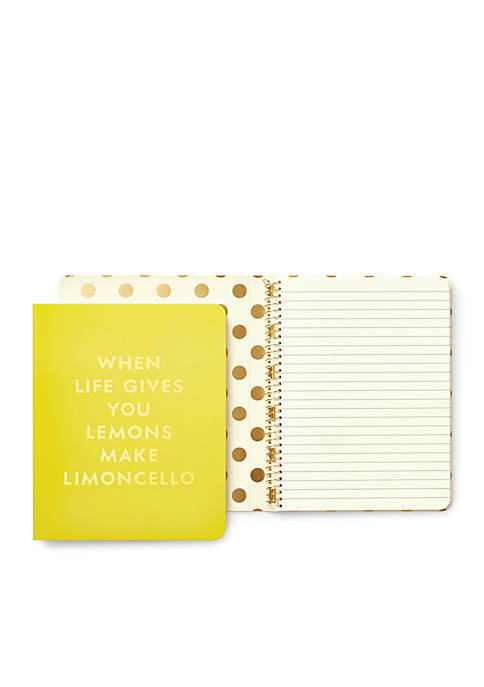 kate spade new york® Concealed Spiral Notebook- Limoncello
