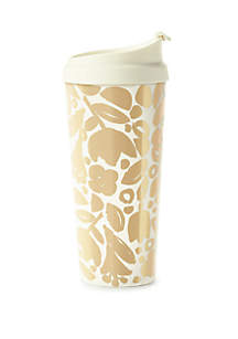 Thermal Mug, Golden Floral