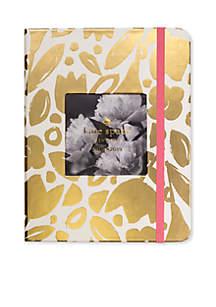 Gold Floral Medium 13-Month Concealed Spiral Planner