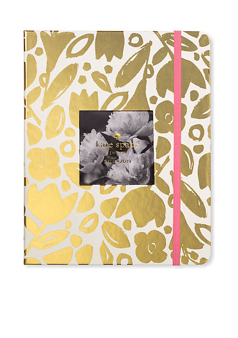 kate spade new york® Gold Floral Large 13-Month