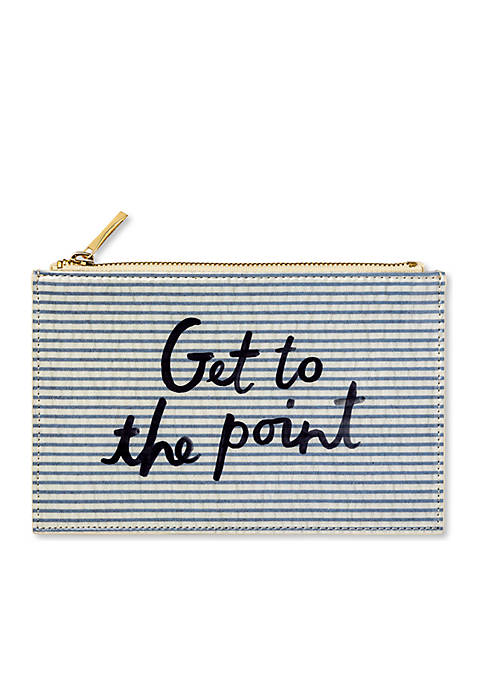 kate spade new york® Seersucker Pencil Pouch
