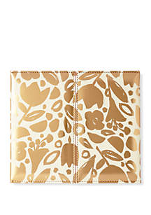 Golden Floral Weekly Desk Calendar
