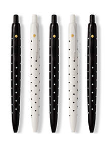 Black Dot Pen Set