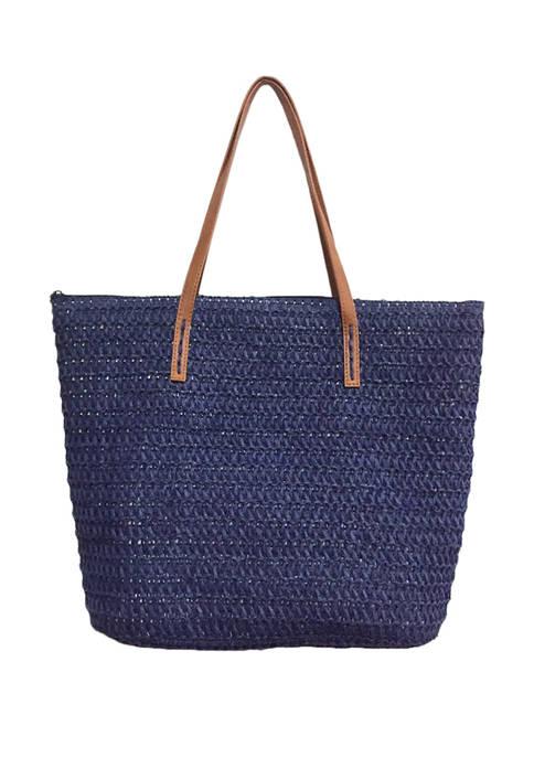 Kim Rogers® Crochet Straw Bag