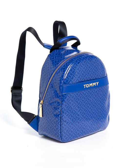 Tommy Hilfiger Cassie Monogram Canvas Dome Backpack