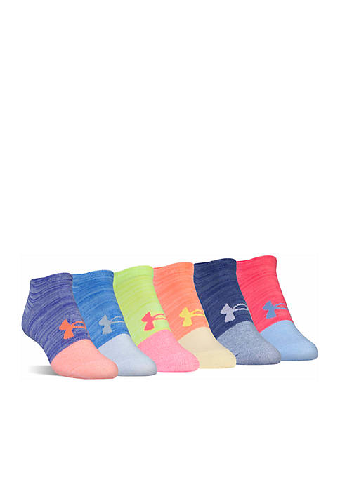 Under Armour® Liner No Show Socks- 6 Pack