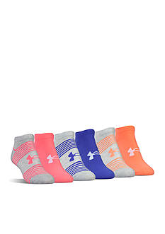 Under Armour® Essential Seasonal Mix No Show Socks- 6 Pack