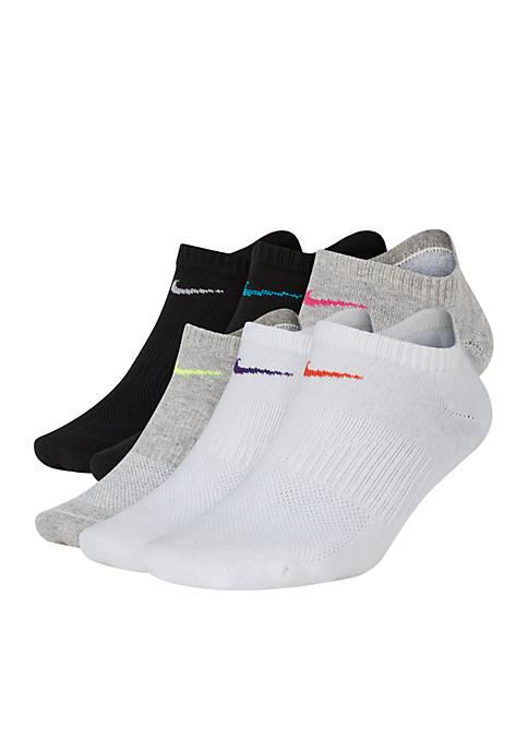 Everyday Lightweight No-Show Training Socks (6 Pair)