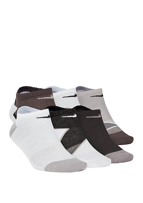 6 Pack Performance Lightweight No Show Socks