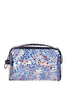 Vera Bradley Clear Beach Cosmetic Bag