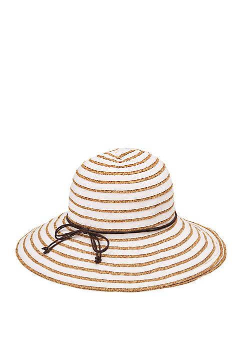 Ribbon Paperbraid Stripe Sun Hat
