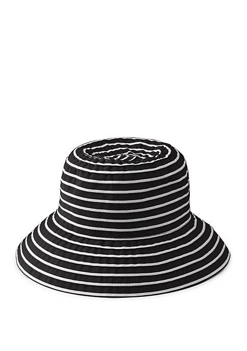 2 Tone Ribbon Cloche Hat