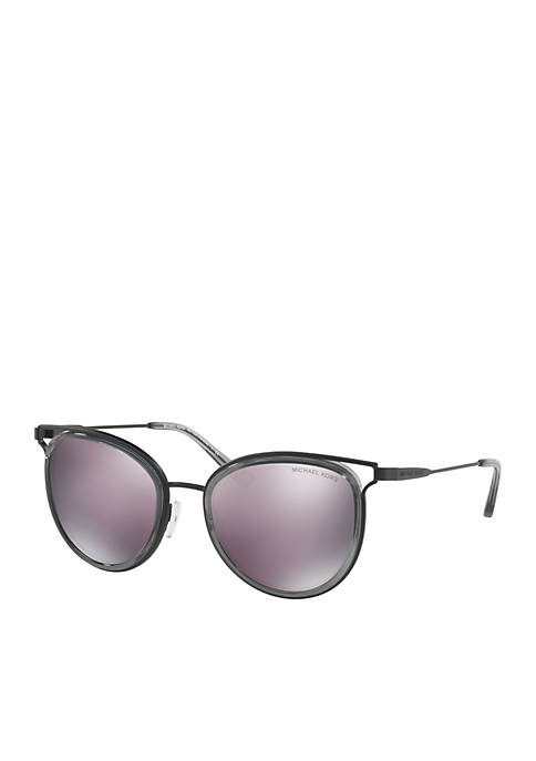 Michael Kors Havana Black Round Sunglasses