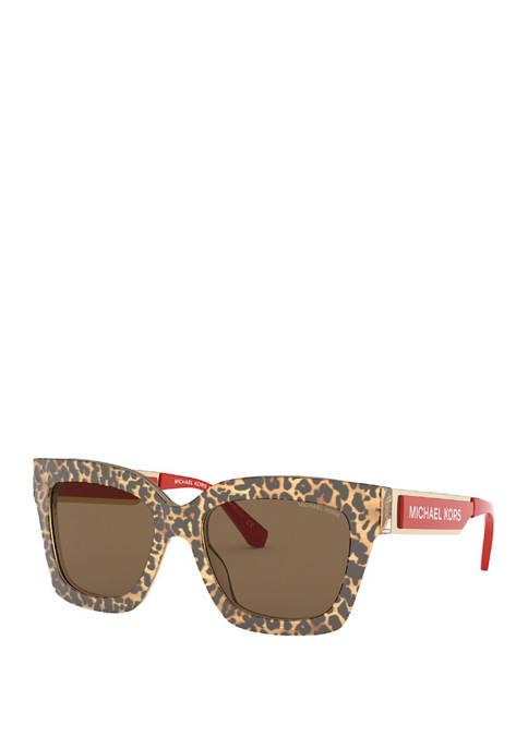 Michael Kors Womens Berkshire Square Sunglasses
