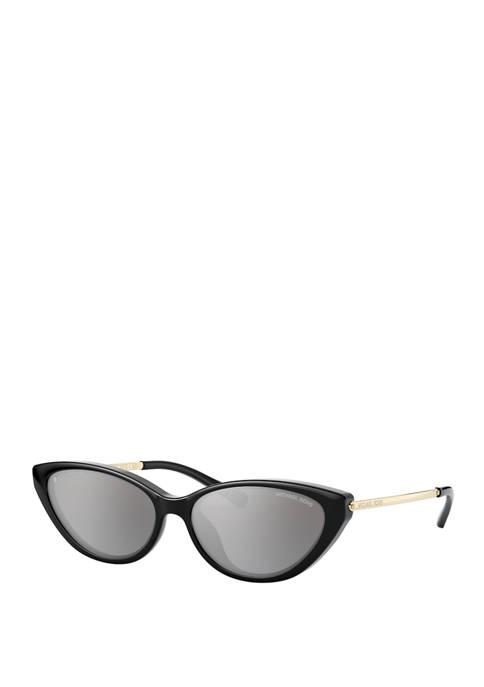 Michael Kors Plastic Cat Eye Black Sunglasses