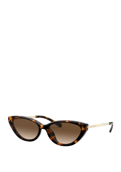 Michael Kors Plastic Cat Eye Tortoiseshell Sunglasses