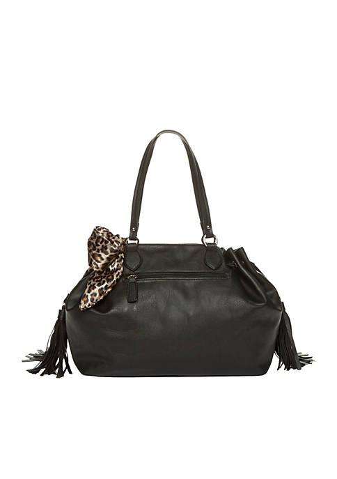 New Directions® Tassel Scarf Shopper Bag