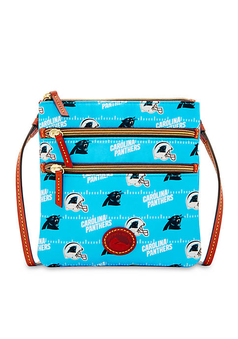 Dooney & Bourke Carolina Panthers Nylon Triple Zip
