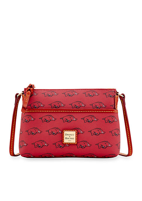 "Dooney & Bourke Arkansas Razorbacks ""Ginger"" Crossbody"
