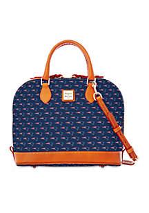 Dooney & Bourke Patriots Zip Satchel Bag