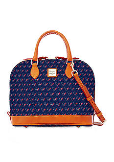 Dooney & Bourke Texans Zip Satchel Bag