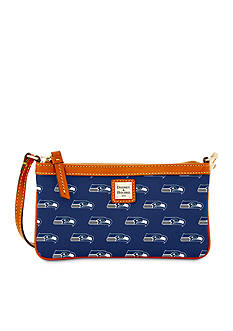 Dooney & Bourke NFL Seahawks Large Slim Wristlet