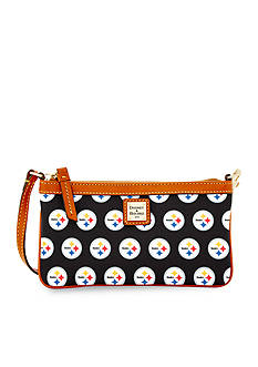 Dooney & Bourke Steelers Large Slim Wristlet