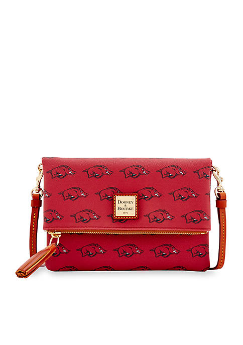 Dooney & Bourke Arkansas Razorbacks Foldover Crossbody