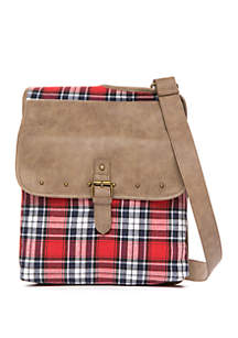 Julia Flannel Stud Sling Crossbody