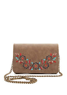 Chain Crossbody with Embroidery